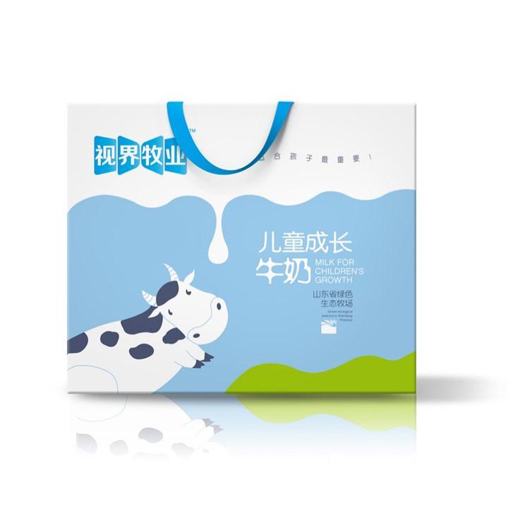 牛奶包装盒展开图